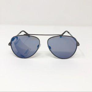 Lucky Brand Aviator Sunglasses Capitola Gunmetal